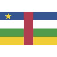 Autocollant Drapeau Afrique Centrale