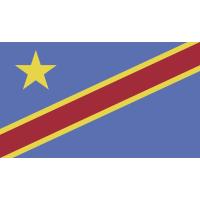 Autocollant Drapeau Congo