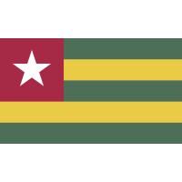 Autocollant Drapeau Togo