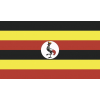 Autocollant Drapeau Ouganda