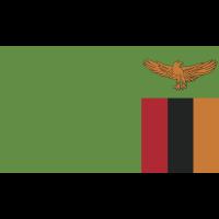 Autocollant Drapeau Zambie