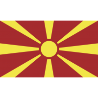 Autocollant Drapeau Macédoine