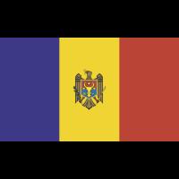 Autocollant Drapeau Moldavie