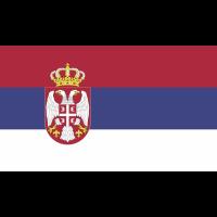 Autocollant Drapeau Serbie