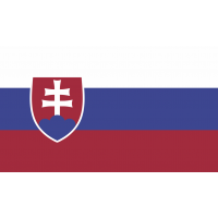 Autocollant Drapeau Slovaquie 1