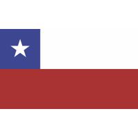 Autocollant Drapeau Chili 1