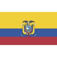 Autocollant Drapeau Equateur