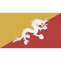 Autocollant Drapeau Bhutan