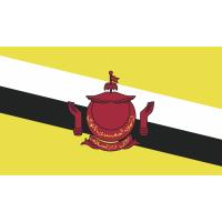 Autocollant Drapeau Brunei