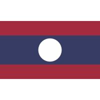 Autocollant Drapeau Laos