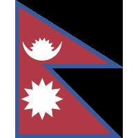 Autocollant Drapeau Népal