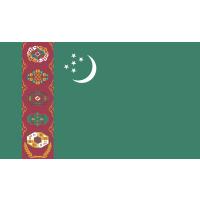 Autocollant Drapeau Turkménistan