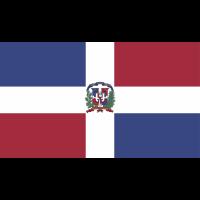 Autocollant Drapeau République Dominicaine