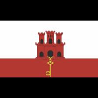 Autocollant Drapeau Gibraltar