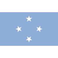 Autocollant Drapeau Micronésie