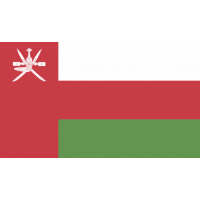 Autocollant Drapeau Oman