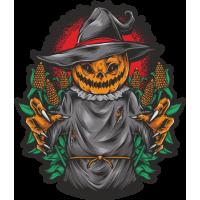 Stickers Halloween Pumpkin Head 5 Citrouille