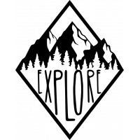 Sticker Explore forest