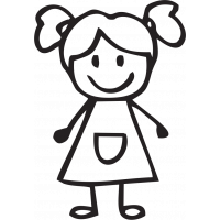 Sticker Famille Petite fille 4