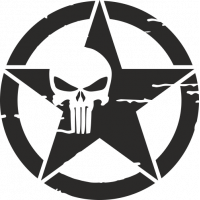 Sticker Etoile US Punisher 2