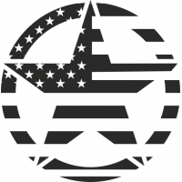 Sticker Etoile US Drapeau USA