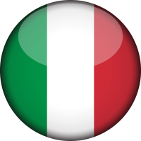 Autocollant Drapeau italien rond 2