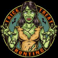 Stickers Halloween Zombie Girl