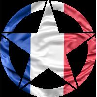 Sticker Etoile US Drapeau Français