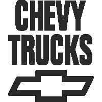 Sticker CHEVROLET CHEVY TRUCKS