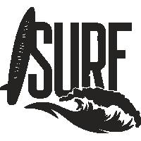 Sticker Surf Vague Déco