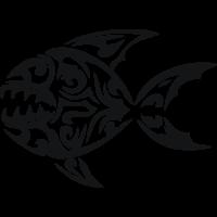 Sticker Poisson Tribal