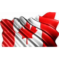 Autocollant Drapeau Canada