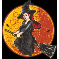 Stickers Halloween Sorcière