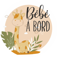 Sticker Bébé à Bord Girafe
