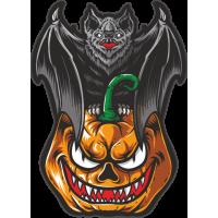 Stickers Halloween Chauve Souris Citrouille