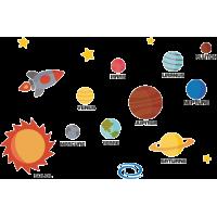 Autocollant Kit Planètes