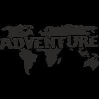 Sticker Monde Mappemonde Adventure