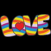 Sticker Love Hippie