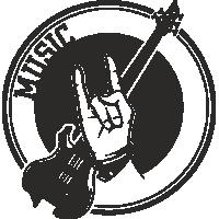 Sticker Déco Baril Musique