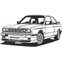 Sticker BMW Car 9