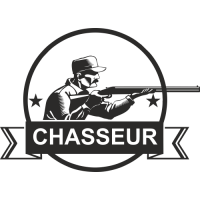 Sticker Déco Baril Chasse