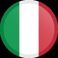 Autocollant Drapeau italien rond bouton