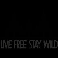 Sticker Live Free Stay Wild