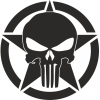 Sticker Etoile US Punisher 3