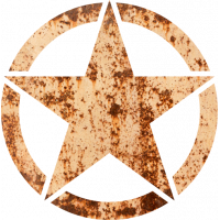 Sticker Etoile US Rouille
