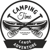 Sticker Déco Baril Camping 2