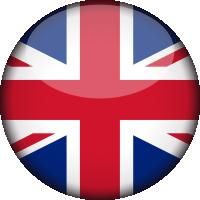 Autocollant Drapeau Royaume-Unis rond 2