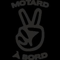 Sticker Motard à bord 2