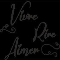 Sticker Citation Vivre Aimer Rire