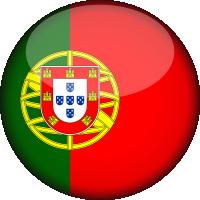 Autocollant Drapeau Portugal rond 2